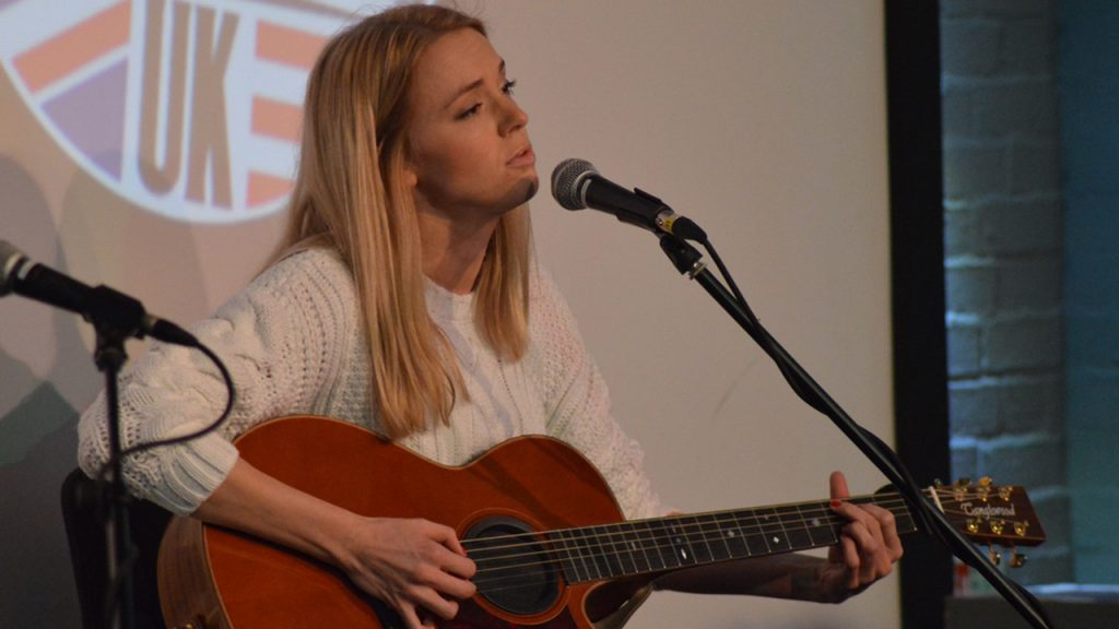 Liv Austen performs at AmericanaFest UK.