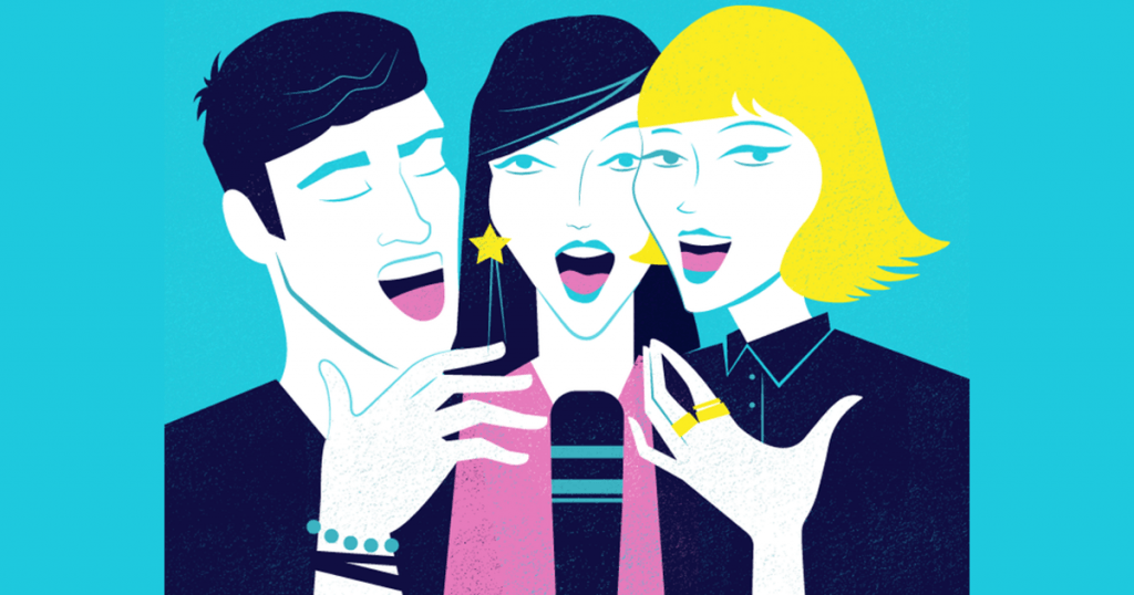 Singing In Harmony. Illustration by Carla Tracy