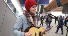 Busking at London Bridge - Hattie Briggs